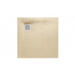 Receveur de douche Terran carre 800X800 en STONEX Cream - ROCA AP10332032001500