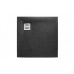 Receveur de douche Terran carre 800X800 en STONEX Noir - ROCA AP10332032001400