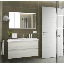 Meuble salle de bain suspendu 2 tiroirs FUSSION LINE 1000 Sbiancato - SALGAR 23307