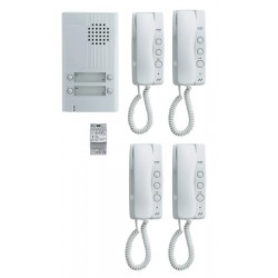 KIT ALU 4BP 4 COMBINES Kit portier audio KITDA4 - Aiphone 110550