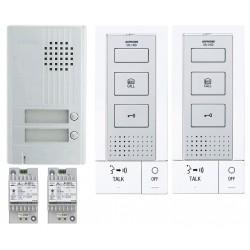 KIT ALU 2BP 2 POSTES Kit portier audio KITDB2 - Aiphone 118715