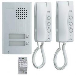 KIT ALU 2BP 2 COMBINES Kit portier audio KITDA2 - Aiphone 110548