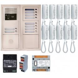 Pack audio 10 BP avec 10 postes GT1D préprogrammés GTBA10E - Aiphone 200381