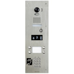 Platine vidéo 4 BP encastrée en IP avec synthèse vocale ISIPDVF4ALACBMA - Aiphone 200725