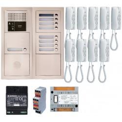 Pack audio 9 BP avec 9 postes GT1D préprogrammés GTBA9E - Aiphone 200380