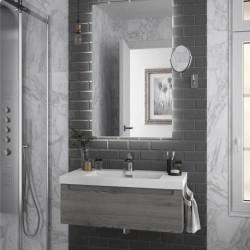 Meuble salle de bain suspendu MONTERREY 800 Pin bahia 1 Tiroir - SALGAR 23931