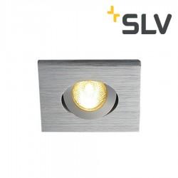 Lumière encastré orientable Kit TRIA MINI LED carré Alu brossé - SLV 114406