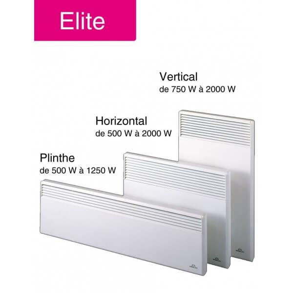 radiateur convecteur airelec elite v15bl 1500w vertical. Black Bedroom Furniture Sets. Home Design Ideas