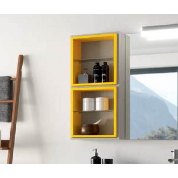 Module de salle de bains Cube intérieur FUSSION 370 Jaune - SALGAR 20844
