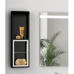 Module de salle de bain FUSSION 250 noir brillant - SALGAR 20860