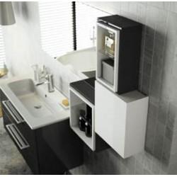 Cube intérieur FUSSION Blanc Brillant avec tablette - SALGAR 20862