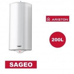 Chauffe-eau électrique vertical mural Sagéo 200 l - Ø 530 mm - ARISTON 3000354