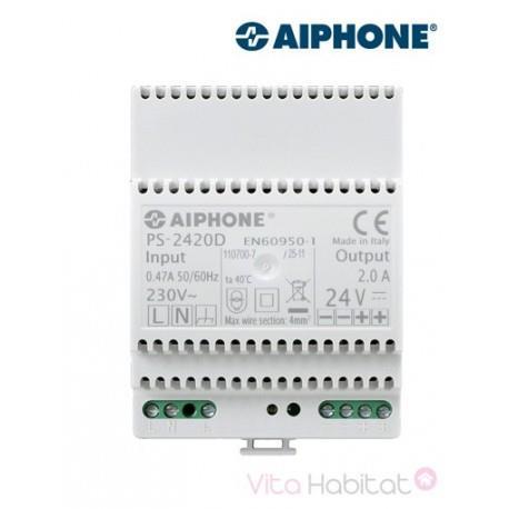 Alimentation PS2420D - 230 Vac / 24 Vcc - 2 A pour kit vidéo AIPHONE - 110912
