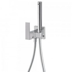 Mitigeur encastrable pour bidet/wc  Support dorite ou gauhe, interchangeable. Flexible satin. - TRES 00612301