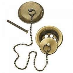 Ensemble d'accesoires pour baignoireØ70 Chaînette de 42cm. - TRES 9134745051