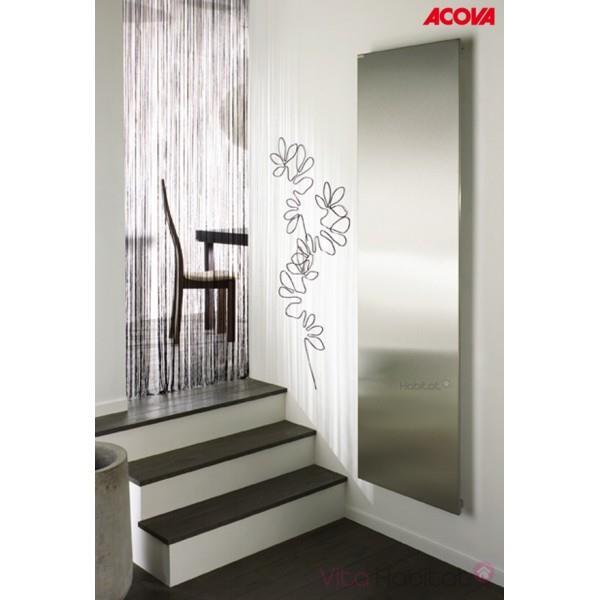 Radiateur lectrique acova altima vertical inox 1250w inertie fluide tm - Puissance radiateur electrique chambre ...