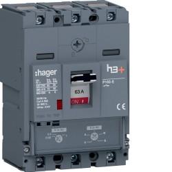Disj.h3+P160 TM 3x63A 70kA - APPAREILLAGE DE TETE  HAGER HES063DC