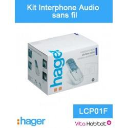 Kit Interphone audio sans fil - 1 logement 1 bouton - Hager logisty - LCP01F