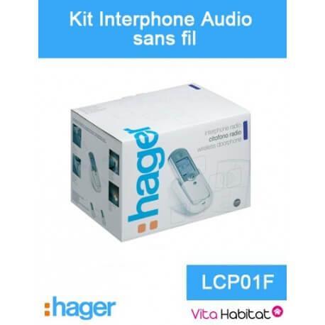 Kit Interphone audio sans fil - 1 logement 1 bouton - Hager logisty - LCP01F