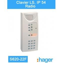 Clavier LS, IP 54 Radio - Logisty Hager - S620-22F