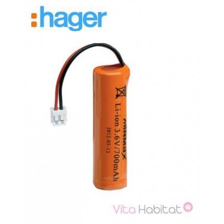 Batterie 3,6 V - 700mAH pour transmetteur GSM - HAGER - 908-21X