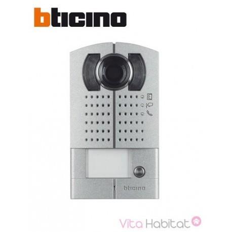 Platine 1 bouton-poussoir vidéo couleur - Saillie -  BTICINO 342991