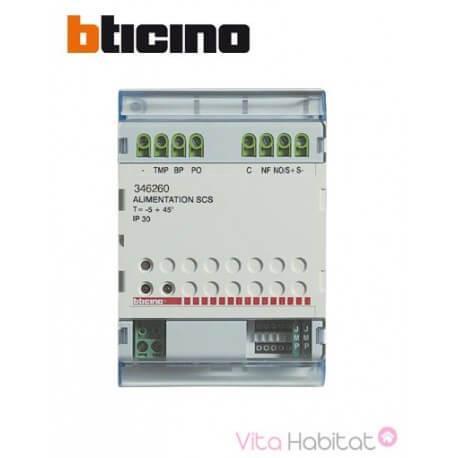 Relais Bus 2 fils pour commande d'ouverture supplémentaire + indication visuelle de porte ouverte -  BTICINO 346260