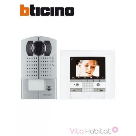 KIT Interphone vidéo BTICINO MEMORY DISPLAY - Saillie - 1 appel - BTICINO 369411