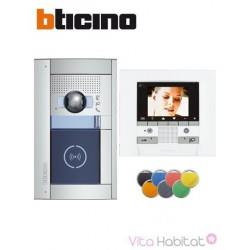 Kit Interphone vidéo BTICINO - Kit SFERA NEW mains libres - Platine encastrée - BTICINO 369611