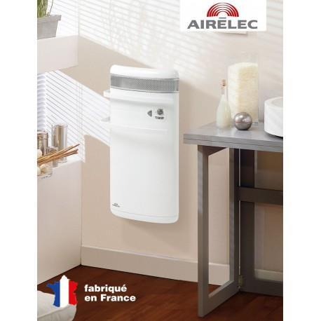 Seche-serviettes AIRELEC INDIGO 1400W - Rayonnant + soufflerie - BLANC - A690465