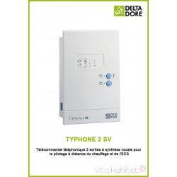 TYPHONE 2 SV - Télécommande téléphonique 2 sorties à synthèse vocale - DeltaDore 6201022