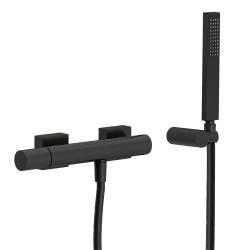 Mitigeur douche Douchette à main anticalcaire avec support orientable et flexible. - TRES 21116701NM