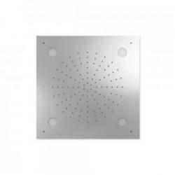 Douche acier inoxydable de tête anticalcaire CHROMOTHERAPY 500x500mm - TRES 29996201