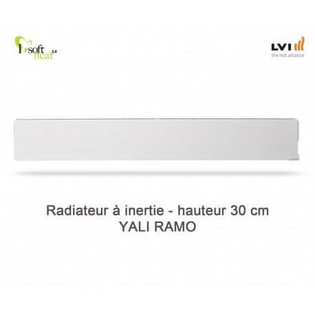 Radiateur électrique LVI - YALI Ramo Plinthe 1250W - inertie fluide (haut.300) 3713122