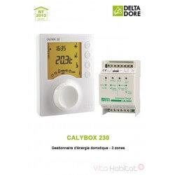 CALYBOX 230 - Gestionnaire d'énergie domotique - 3 zones - DELTA DORE 6050392