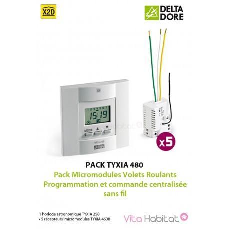 Pack TYXIA 480 - Pack Micromodules Volets Roulants - Programmation et commande centralisée sans fil  - DELTADORE - 6351172