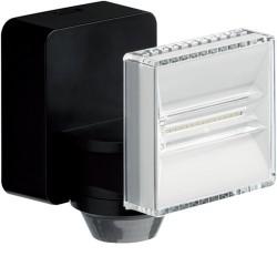 Proj LED 12W noir detecteur - GESTION ECLAIRAGE  HAGER EE642