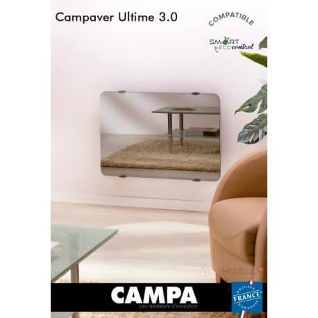 Radiateur électrique Campa - CAMPAVER Ultime 3.0 Horizontal Reflet 2000W - CMUD20HMIRE