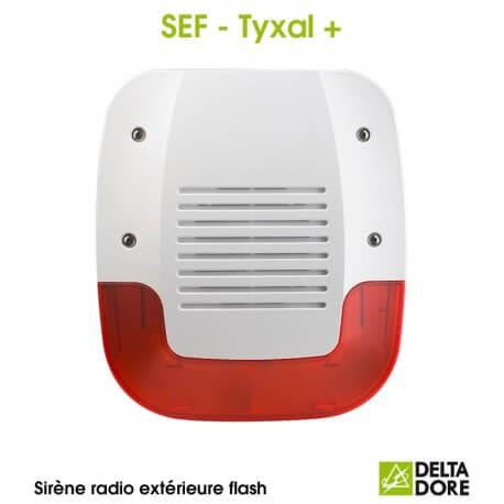 Sirène Extérieure Flash Radio - SEF TYXAL+ Delta Dore 6415221
