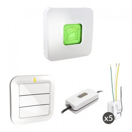 PACK TYXIA 640 CONNECTE : PACK VOLETS ROULANTS ET LAMPE CONNECTÉS - DELTA DORE 6351394