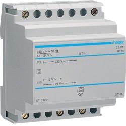 Transfo sécu 25VA 230/12-24V - COMMANDE SIGNAL  HAGER ST312