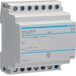 Transfo sécu 16VA 230/12-24V - COMMANDE SIGNAL  HAGER ST313