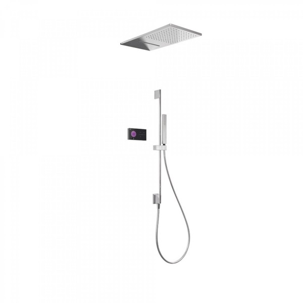 Kit De Douche Thermostatique électronique Et Encastré SHOWER TECHNOLOGY  Avec Contrôle électronique Compris (noir). Loading Zoom