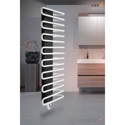 Sèche-serviette LVI - MAROA BW électrique  1000W - ouverture des tubes à droite - 3840032