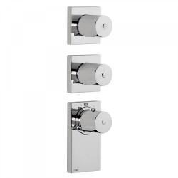 Thermostatique à encastrer BLOCKSYSTEM avec fermeture et réglage du débit. (4voies) - TRES 20635499