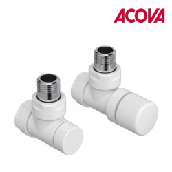 Kit B robinetterie BLANC manuelle coudé - ACOVA 991361