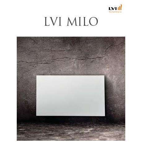 Radiateur LVI MILO Horizontal 1000W Noir Anthracite (haut.600) 2066109