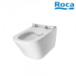 Cuvette de WC suspendue en porcelaine sans bride Rimless Blanc THE GAP - ROCA A34647L000