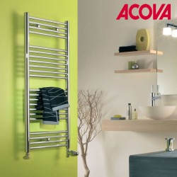 Sèche-serviette ACOVA - ATOLL Spa eau chaude Chromé 283W SLO-080-050