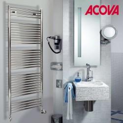 Sèche-serviette ACOVA - ATOLL Spa eau chaude Chromé 705W SLO-170-060